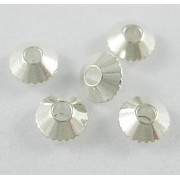 4mm Bicone Style Bead Spacer - SILVER