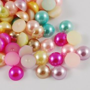 8mm Flat Back Acrylic Pearl Imitation - MIXTURE