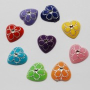 12mm Flat Back HEART Resin