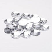 22mm Flat Back Faceted Rhinestone