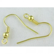 Earring Wire Hooks - Gold Plated