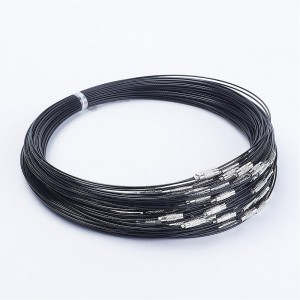 Steel Wire Necklace Cord  - BLACK