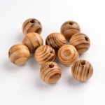 16mm Round Wooden Beads - BURLY WOOD