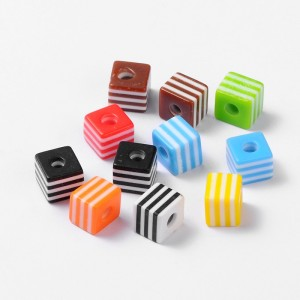 "10mm Resin ""CUBE"" Beads - MIXTURE"