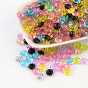 8mm Faceted ABACUS Transparent Acrylic Beads - MIXTURE