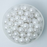 8mm Imitation Acrylic Beads - White