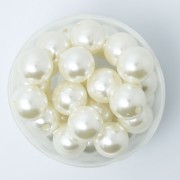 8mm Imitation Acrylic Pearl Beads - Ivory