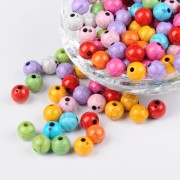 8mm Imitation Turquoise Acrylic Beads - MIXTURE