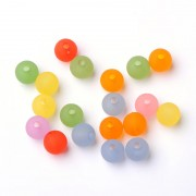 8mm Frosted Round Acrylic Beads - MIXTURE