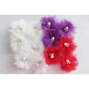 "2"" SWEET PEA FLOWERS - 3 each per colour"