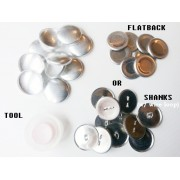 "Self Cover Buttons  ""SAMPLE PACK"" 10 Buttons + 1 Tool - 7 sizes available"