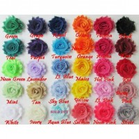 "2.5"" Shabby Flowers - 30 colours available"