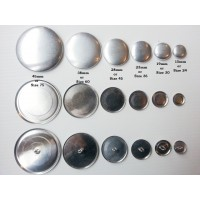 Self Cover Buttons - 7 sizes available