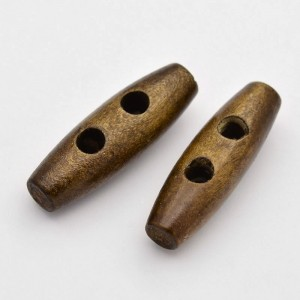 30mm TOGGLE Wodden Buttons - Coconut Brown