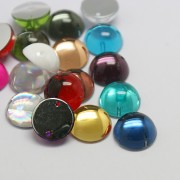 8mm ROUND Sew On Flat Back Dome Rhinetone