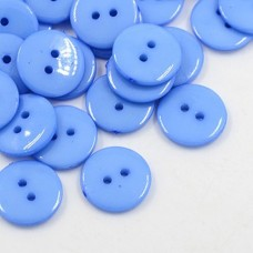 12mm 2hole ROUND Acrylic Buttons - Blue