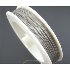 0.45mm Antique Silver Tiger Tail Beading Wire - 10metres