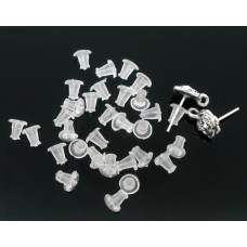 Clear Rubber Back Earring Stoppers