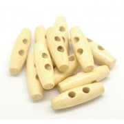 35mm TOGGLE Wooden Buttons - Wooden Colour
