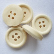 25mm ROUND Wooden Buttons - Wooden Colour
