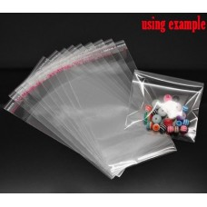 12cm x 9cm Self Adhesive Clear Bag