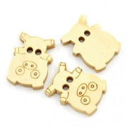 20mm Piggy Wooden Buttons