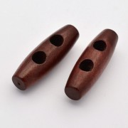 35mm TOGGLE Wodden Buttons - Brown