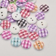 15mm GINGNAM Wooden Buttons - Mixture