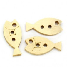 20mm Fish Wooden Buttons