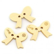 18mm Bowknot Wooden Buttons