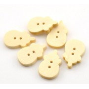 20mm Milk Bottle Wooden Buttons