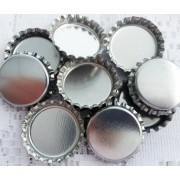 25mm STANDARD Bottle Caps - SILVER COLOUR