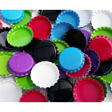 25mm STANDARD Double Sided Painted Bottle Caps - 8 colours available