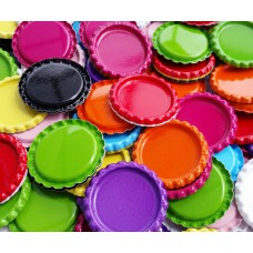 25mm FLATTEN Double Sided Painted Bottle Caps - 10 colours available