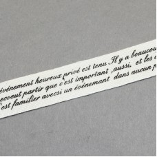 15mm Printed Cotton Ribbon - WORDS