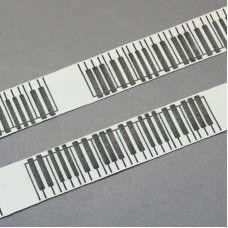 20mm Printed Cotton Ribbon - PIANO KEYS