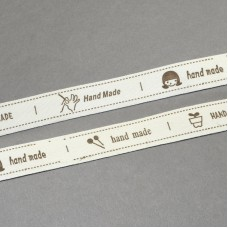 15mm Printed Cotton Ribbon - HANDMADE
