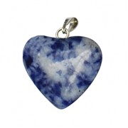 Gemstone Pendant with clasps - Heart