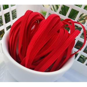 6mm Flat Elastic - RED