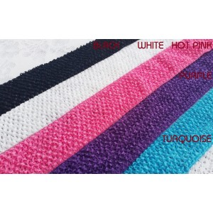 "2.8"" Crochet Elastic by the metre - 5 colours available"