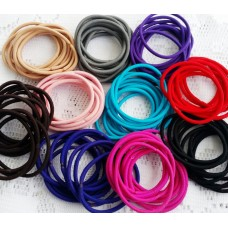 3mm Metal Free Hair Ties or Ponytail Holder  - 10 colours available