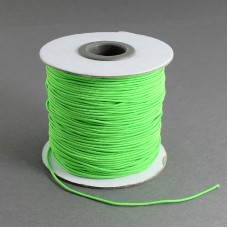 1mm Round Elastic Cord - Lime