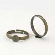 6mm Pad Adjustable Ring - Antique Bronze