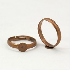 6mm Pad Adjustable Ring - Red Copper