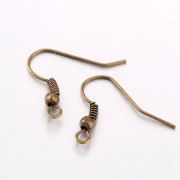 Earring Wire Hooks - Antique Bronze