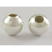 3.2mm Round Bead Spacer - Silver Plated