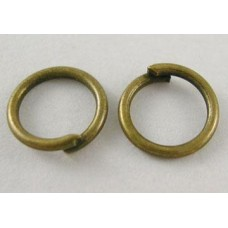 4mm Jump Rings - Antique Bronze