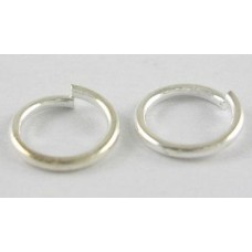 4mm Jump Rings - Silver Plated