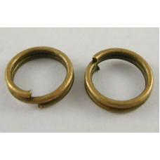 10mm Double Split Rings - Antique Bronze