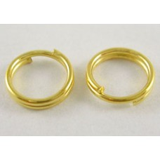 4mm Double Split Rings - Bright Gold